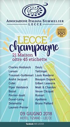 locandina lecce champagne