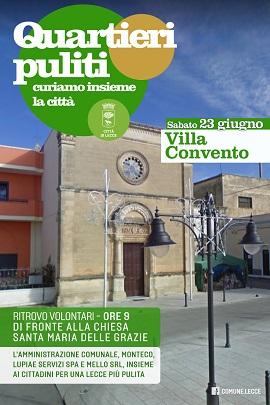 locandina quartieri puliti villa convento