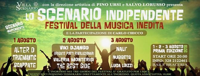 banner festival olo scenario indipendente'