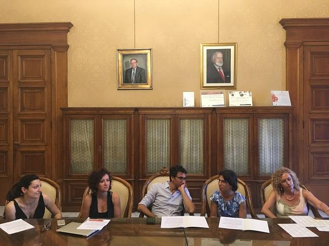 conferenza stampa 'la città provvisoria' in mostra a spazio murat