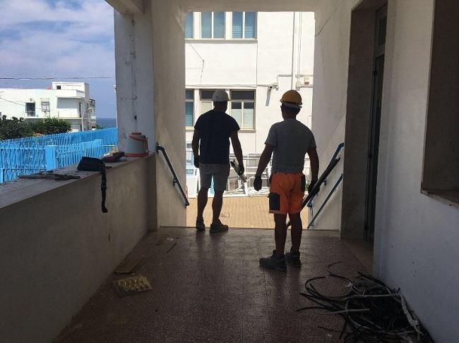 lavori costruzione palestra scuola levi montalcini a torre a mare