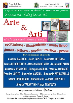 locandina seconda edizione 'arte & arti