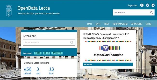 Online il nuovo portale dati aperti del Comune di Lecce