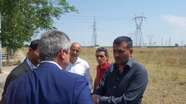 spostamento elettrodotti loseto - sopralluogo sindaco e rappresentanti terna