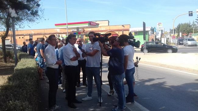 consegna lavori per eliminazione semafori incrocio via foggia-via violante