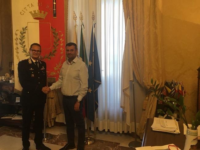 decaro riceve la visita del comandante provinciale dei carabinieri molinese