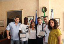 il sindaco incontra il giovane atleta abdou