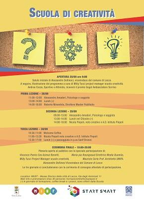 locandina scuola di creatività e innovazione