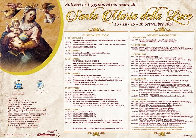 manifesto festa patronale madonna della luce