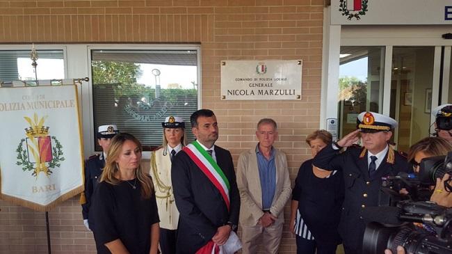 intitolazione comando polizia locale a nicola marzulli