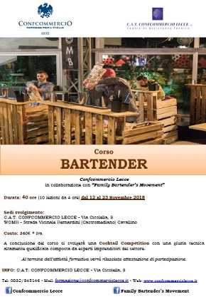 locandina corso bartender