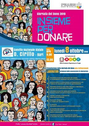 locandina 'insieme per donare'