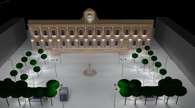 render progetto di implementazione dell'impianto di illuminazione e del sistema di videosorveglianza in piazza risorgimento