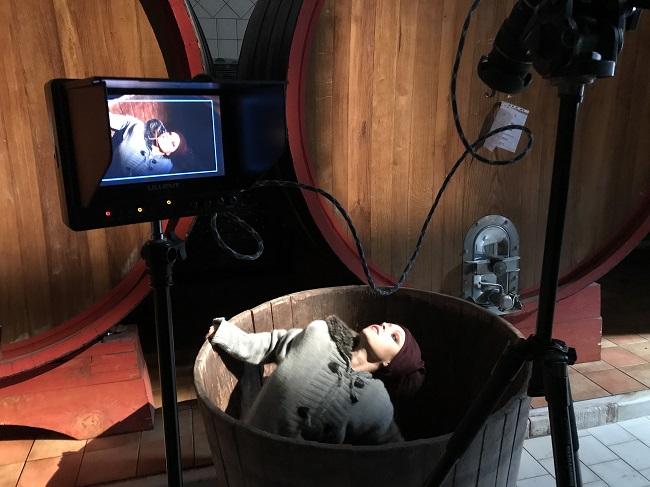 sul set di 'in vino veritas'