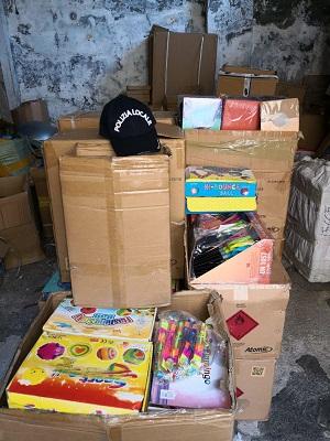 giocattoli sequestrati dalla polizia locale