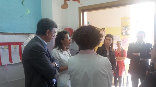 incontro tra sindaco e alunni sezione infanzia di via Ofanto