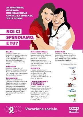 locandina coop alleanza 3.0 per la giornata contro la violenza sulle donne