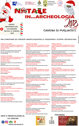 locandina natale in archeologia 2018 canosa