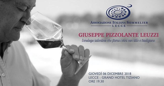 locandina una serata con i vini di giuseppe pizzolante leuzzi