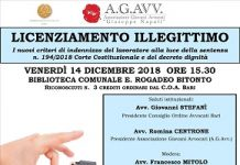 manifesto 'licenziamento illegittimo'