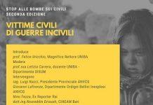 locandina 'vittime civili di guerre incivili'
