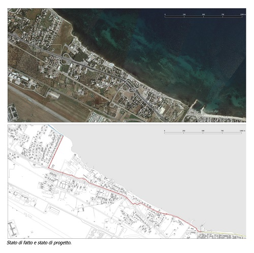 progetto itinerario ciclopedonale strada del baraccone - stato di fatto e di progetto