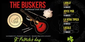 banner st. patrick's day con i buskers