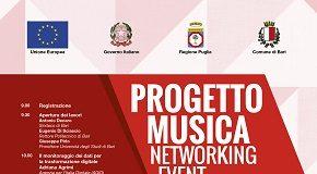 locandina presentazione del progetto musica
