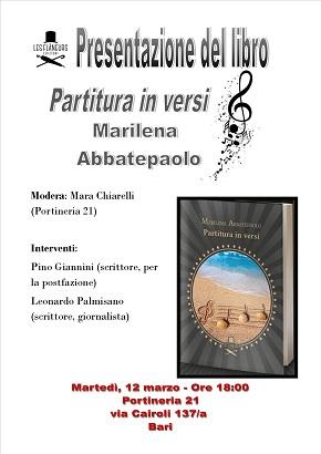 manifesto presentazione libro 'partitura in versi'