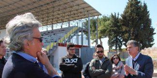 sopralluogo del sindaco allo stadio 'puttilli'