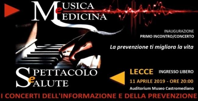 banner 'musica e medicina - spettacolo e salute'