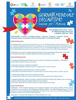 locandina convegno per giornata mondiale autismo