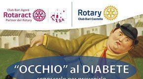 locandina service 'occhio al diabete' del rotaract e rotary