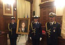cerimonia di scoprimento del ritratto del sindaco nicola lamaddalena