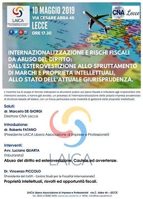 locandina internazionalizzazione e rischi fiscali