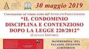 locandina presentazione del nuovo libro di paolo iannone a manfredonia