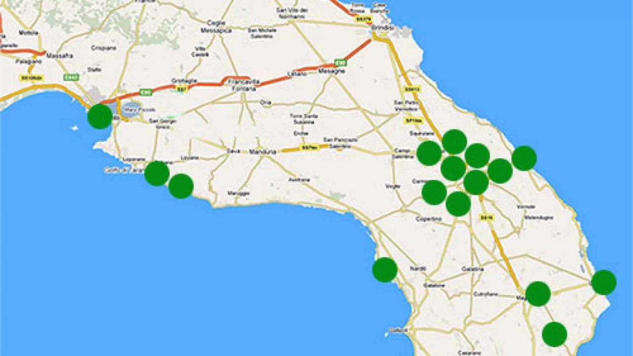 Cartina Dettagliata Puglia.Su Google Maps Le Imprese Pugliesi Si Cercano Si Trovano E Si Esplorano