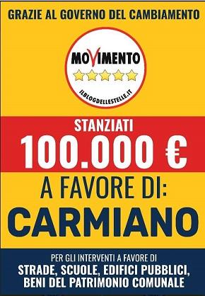 locandina meetup 5 stelle carmiano & magliano