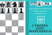 locandina trofeo di scacchi al lido mancarella