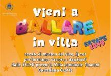 locandina vieni a ballare in villa Estate 2019