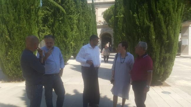 oggi il sopralluogo dell'assessore lacoppola al cimitero monumentale