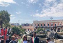 sindaco alla cerimonia in ricordo delle vittime del disastro ferroviario del 12 luglio 2016