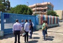 sopralluogo galasso a palese per interventi rotatria scuola collodi e riqualificazione via del turco