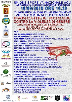 locandina inaugurazione panchina