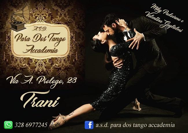 locandina para dos tango accademia, dal 16 settembre a trani