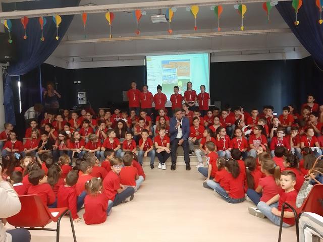 festa dell'accoglienza, il sindaco incontra gli alunni della 'giovanni paolo II'
