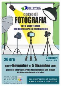 locandina corso di fotografia-videoterapia