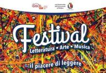 locandina inaugurazione festival della letteratura dell'arte della musica
