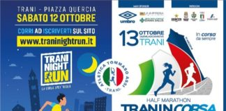 locandina night run e traniincorsa