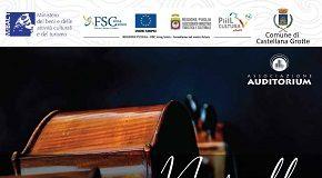 locandina stagione concertistica a castellana grotte, domenica 27 duo pianoforte ed violoncello